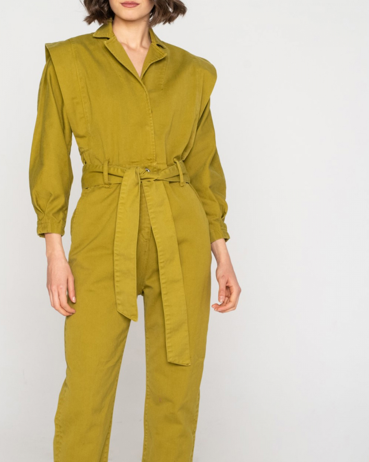 80's Jean Jumpsuit Lime