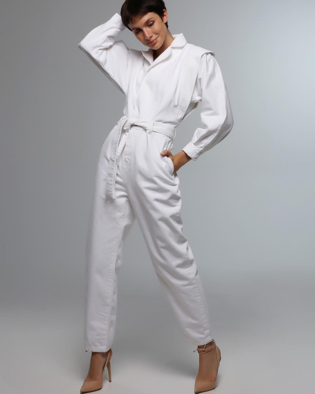 80's Jean White Jumpsuit