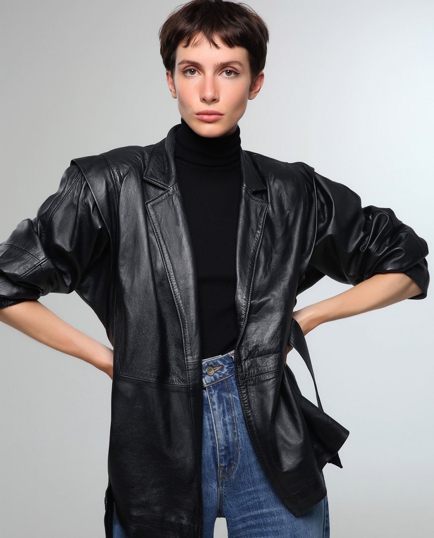 80's Leather Black Jacket