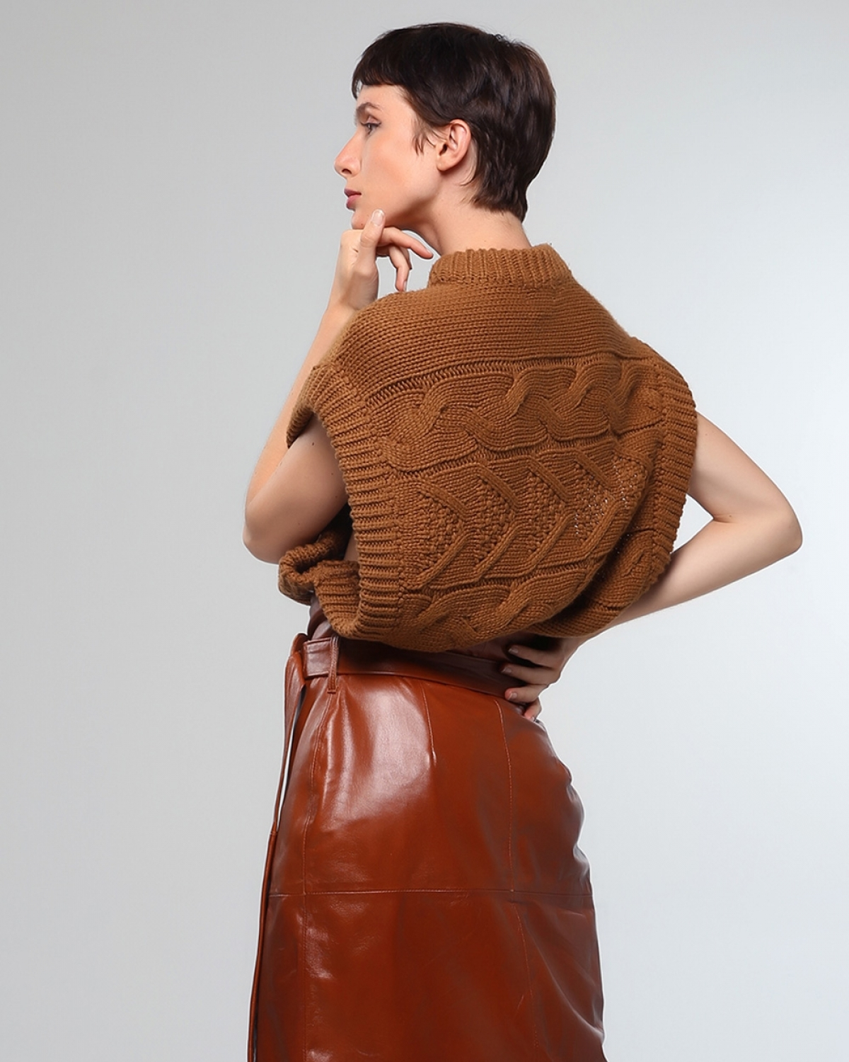 80's Sleeveless Knitted Top