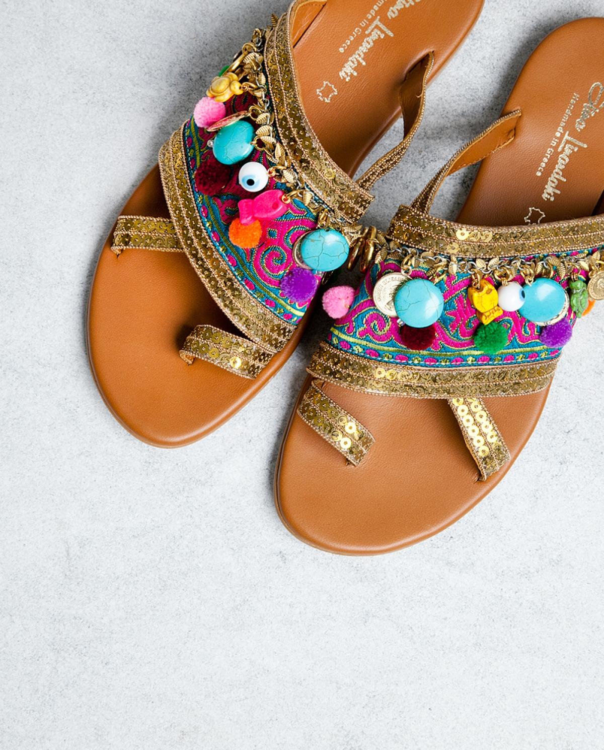 Agrabah Embellished Leather Sandals