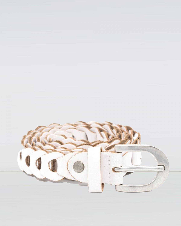 Alma White Leather Belt
