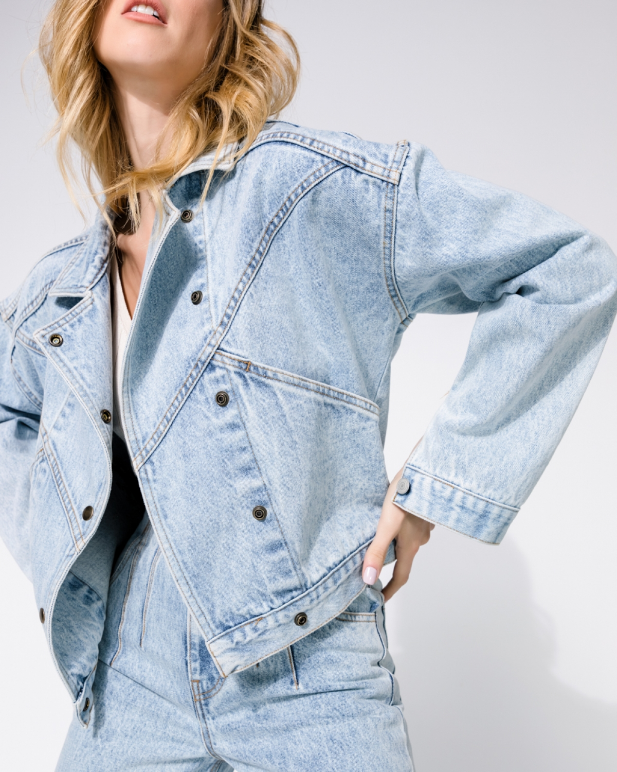 Amy Barrel Denim Jacket