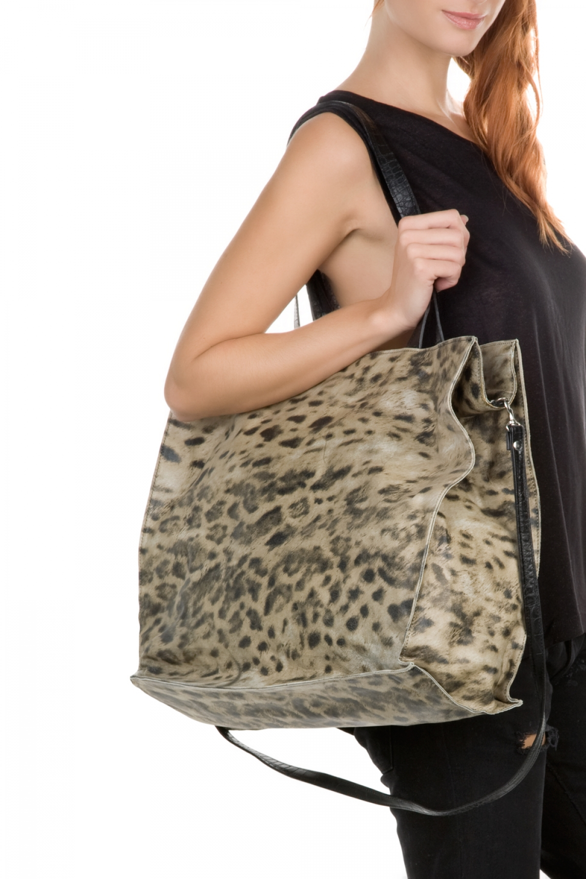 Animal Print Giant Shoulder Bag