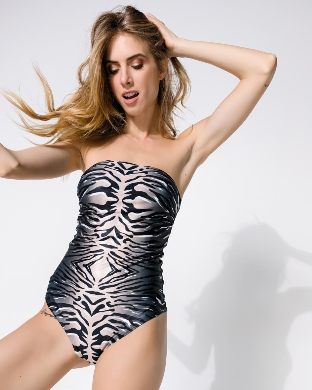 Animal Safari Strapless Swimsuit