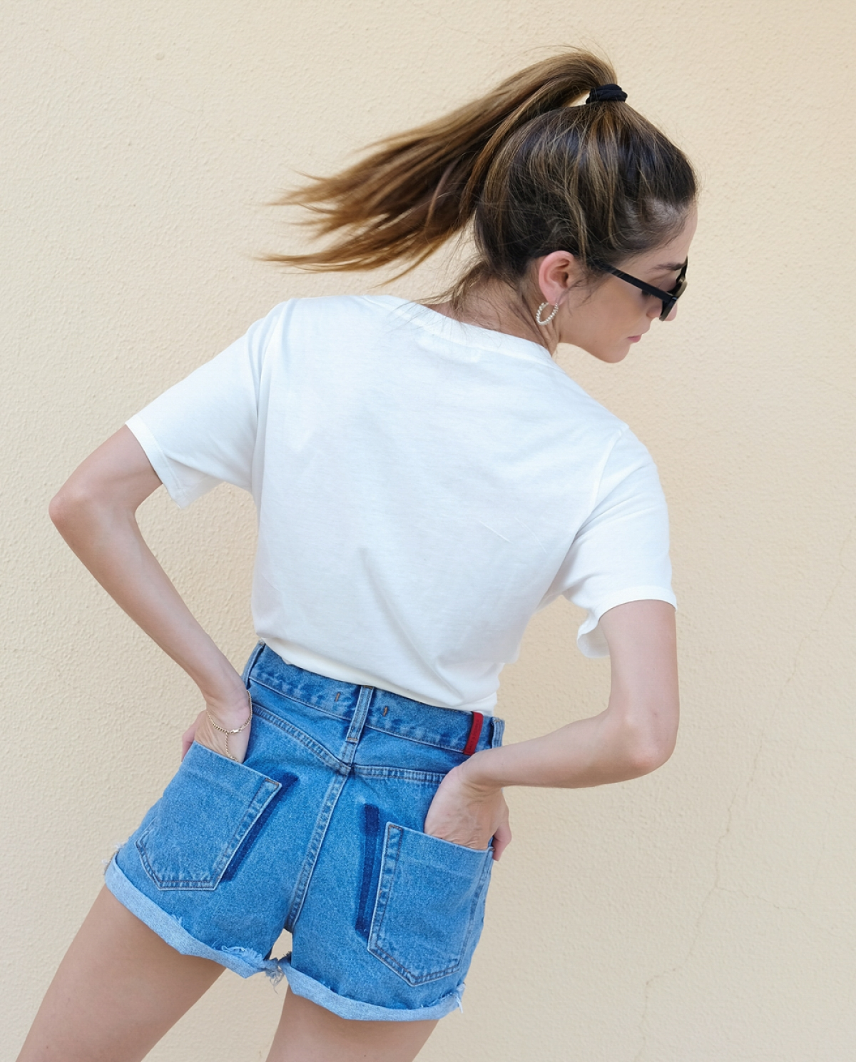 Annie Remade Denim Shorts