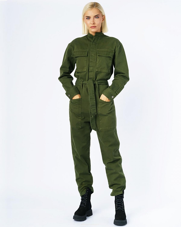 Army Jean Jumpsuit Khaki