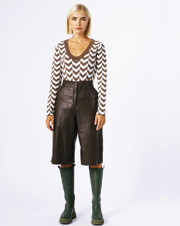 Arrow Bodysuit Brown-White
