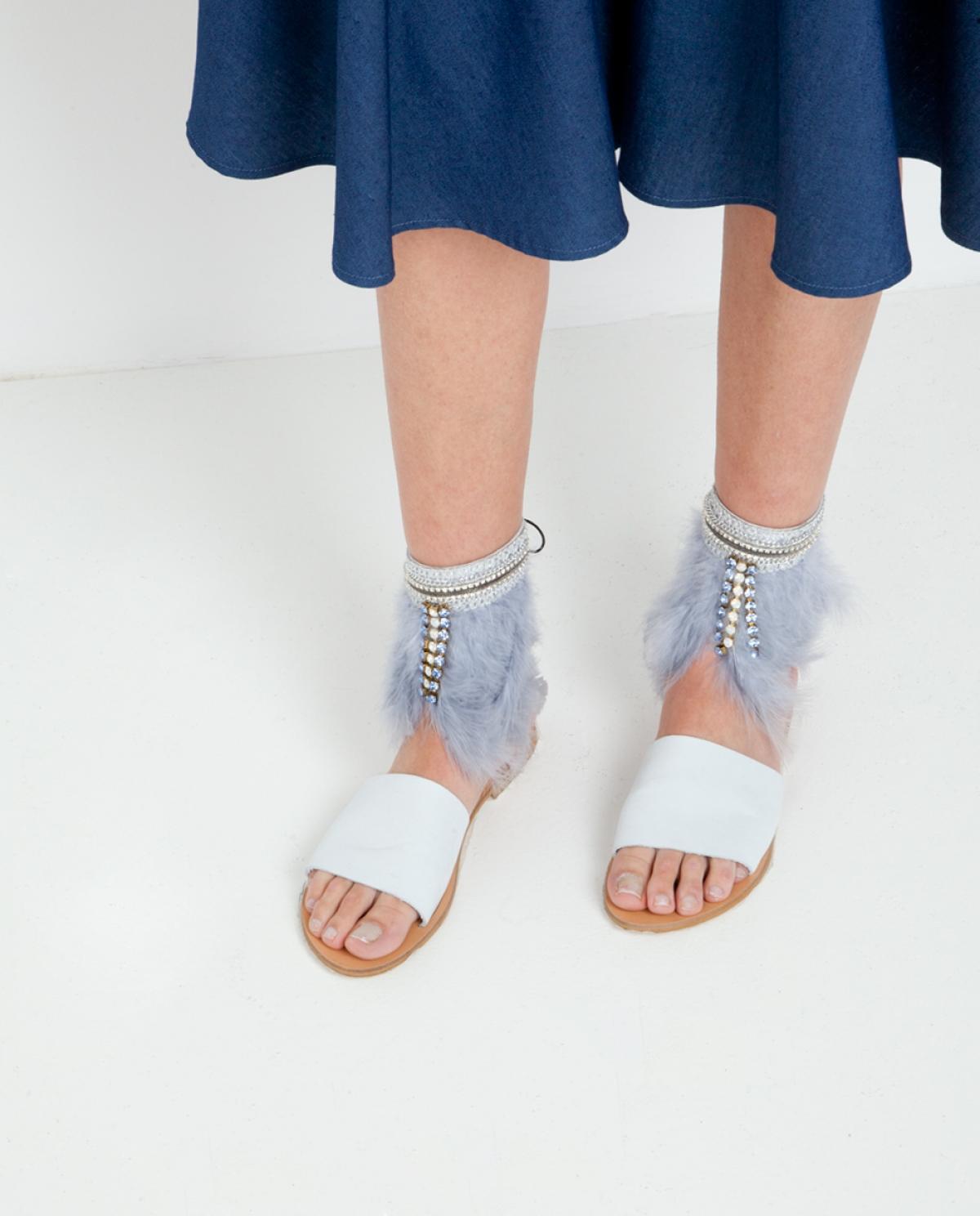 Flamingo Feather Sandals