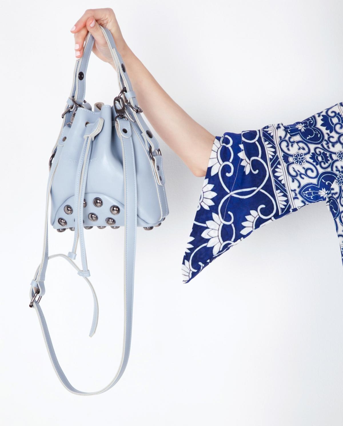 Baby Blue Mini Pouch Bag