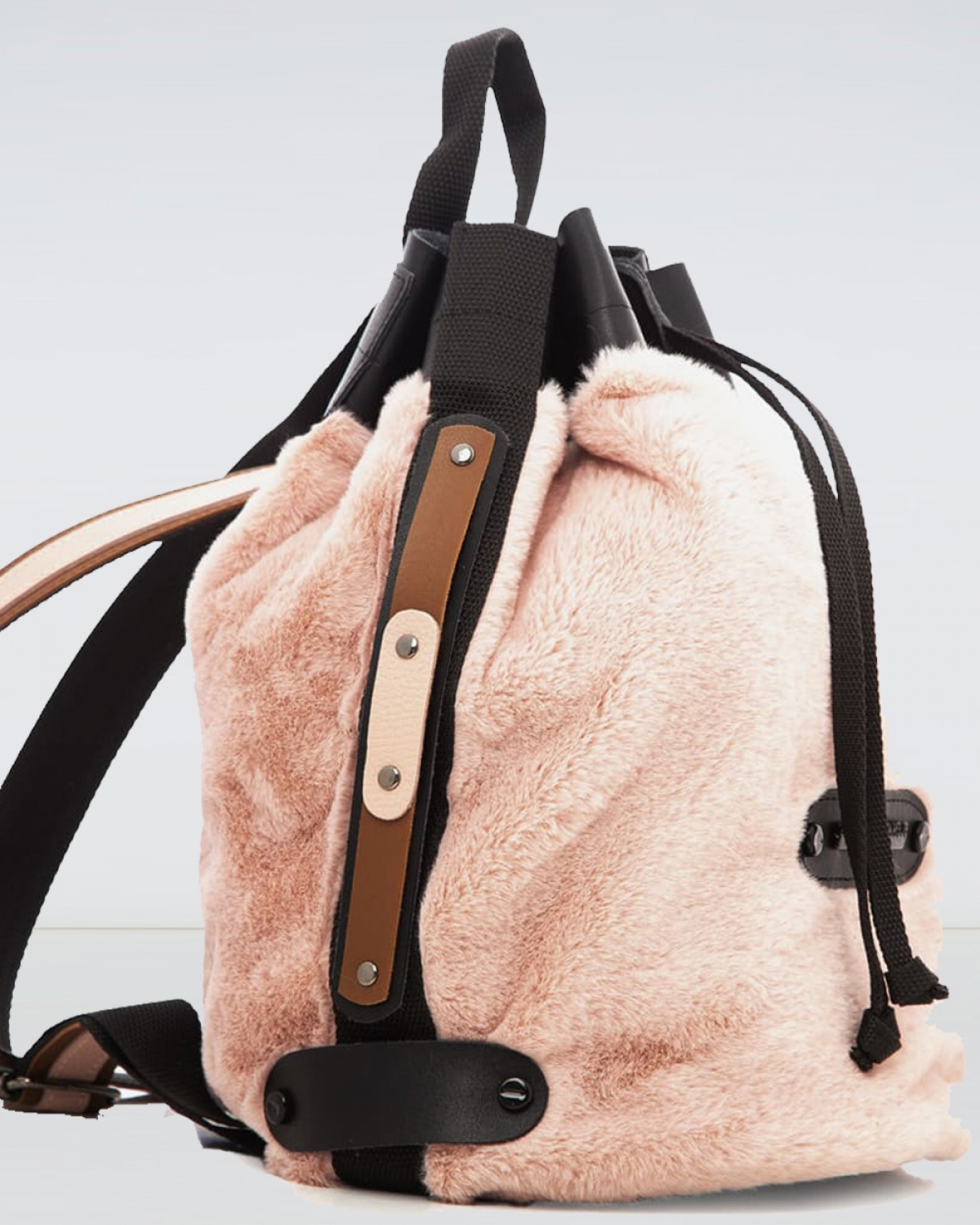 Baby Pink Fluffy Backpack