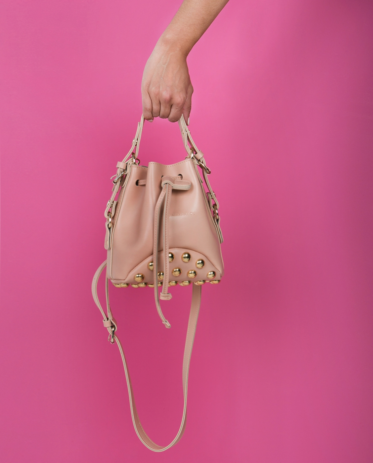 Baby Pink Mini Pouch Bag