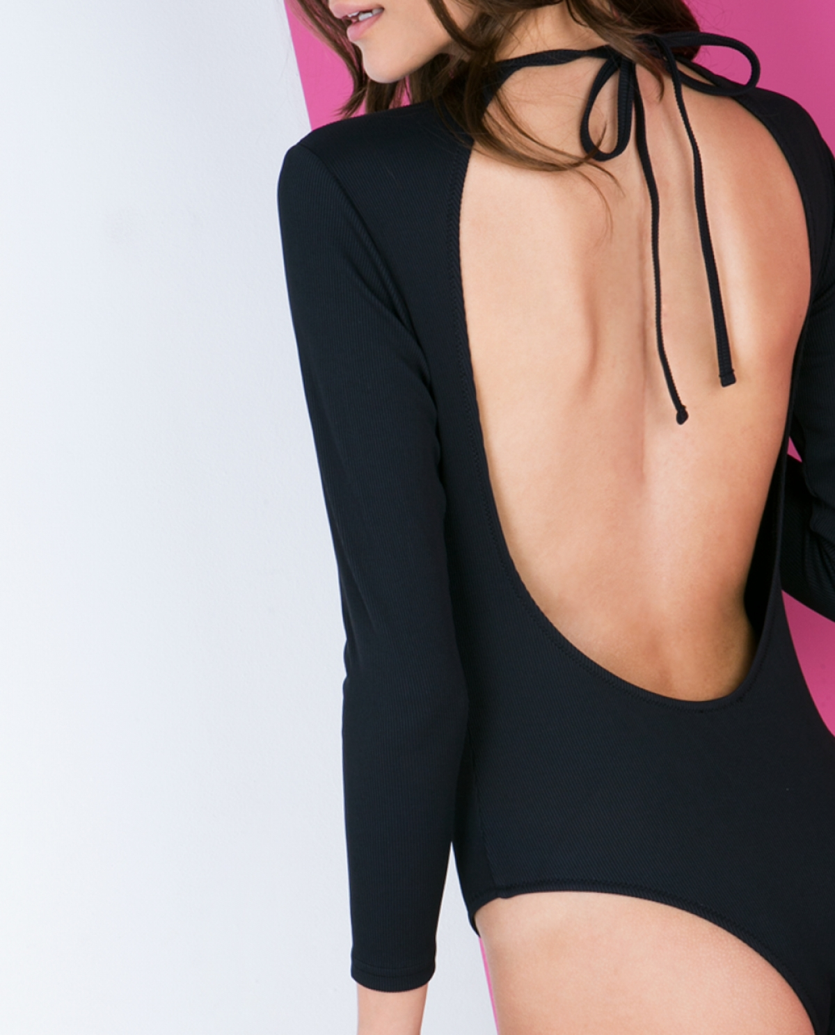 Backless Long-sleeve Swimsuit