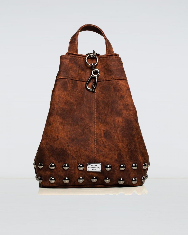 Backpack Jean Pattern Brown