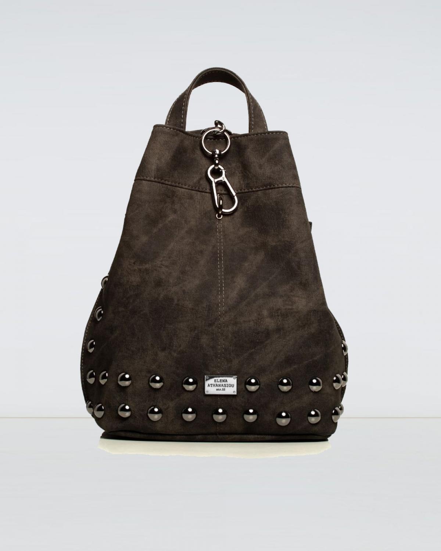 Backpack Jean Pattern Grey Black