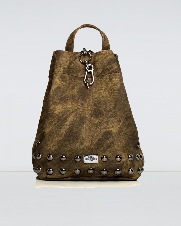 Backpack Jean Pattern Olive
