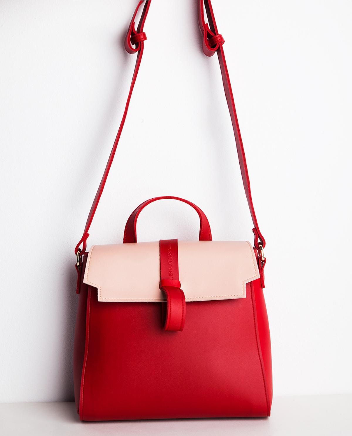 Ballerina Leather Shoulder Bag