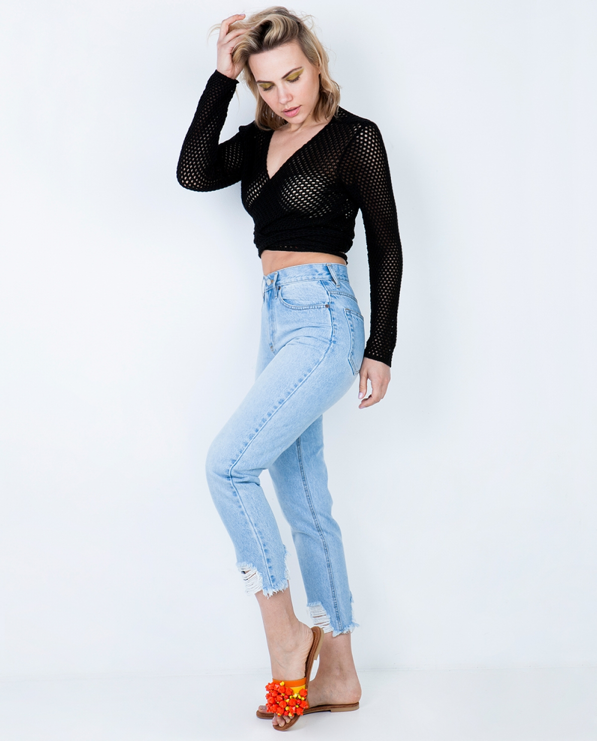 Barbara Light Cropped Jeans