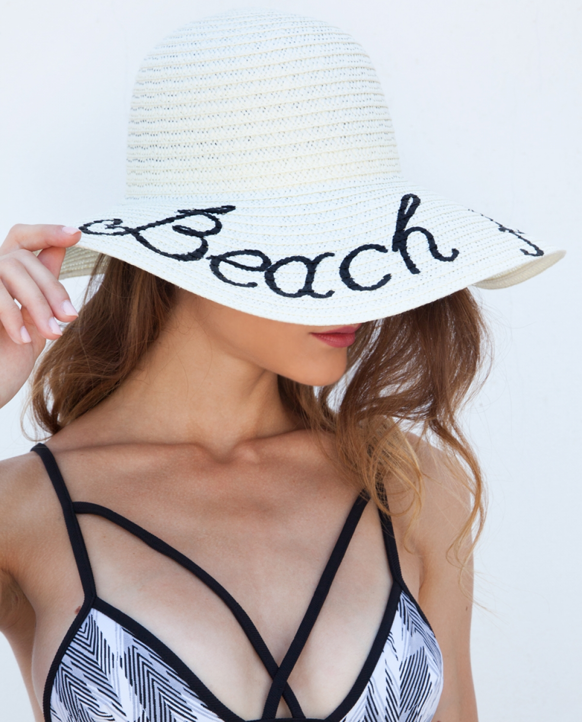 Beach Please Hand Painted Hat