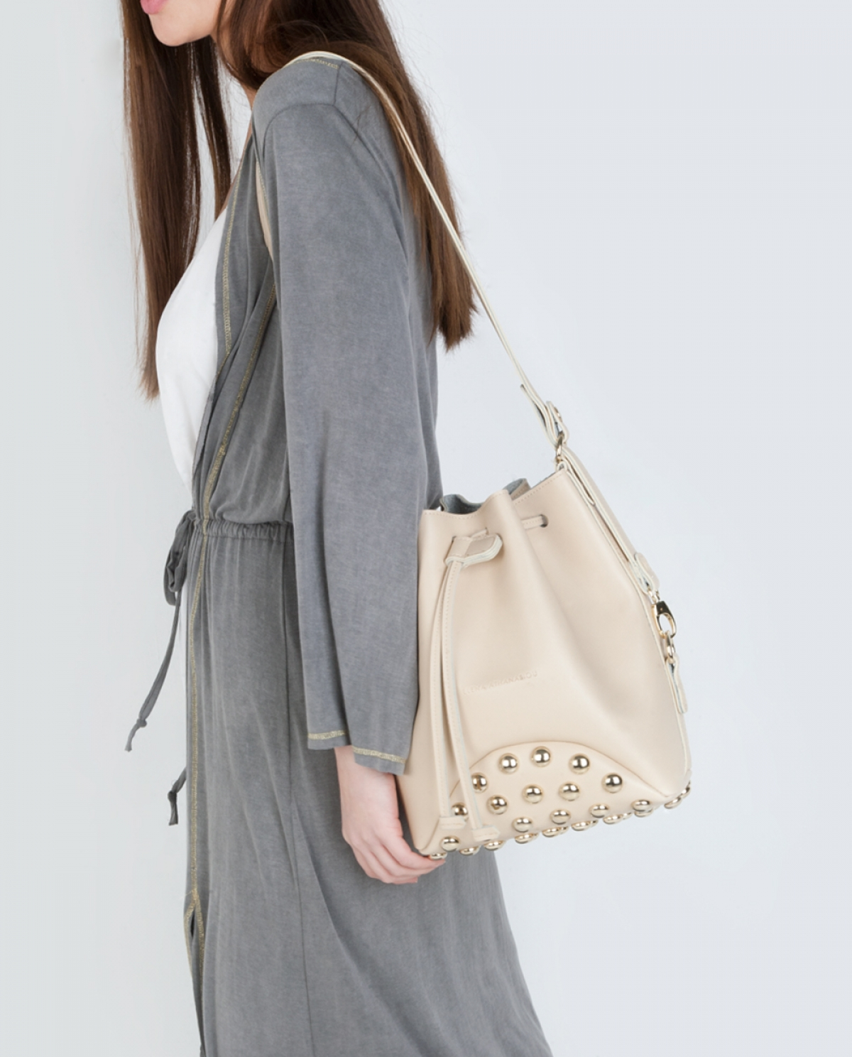 Beige Fresh Pouch Bag