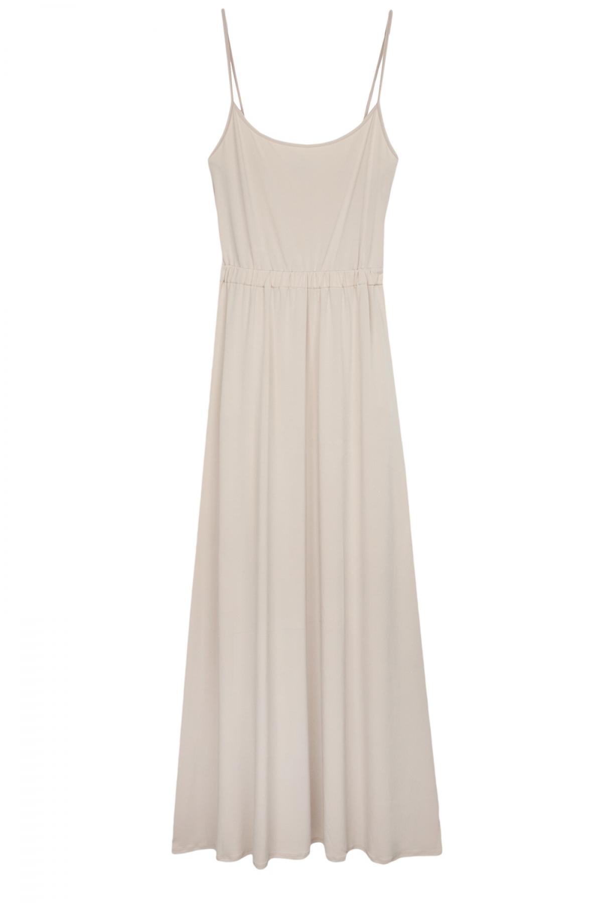 Beige Maxi Dress - Fashionnoiz