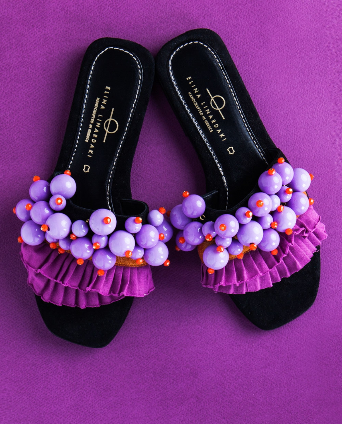 Berry Beads-embellished Sandals