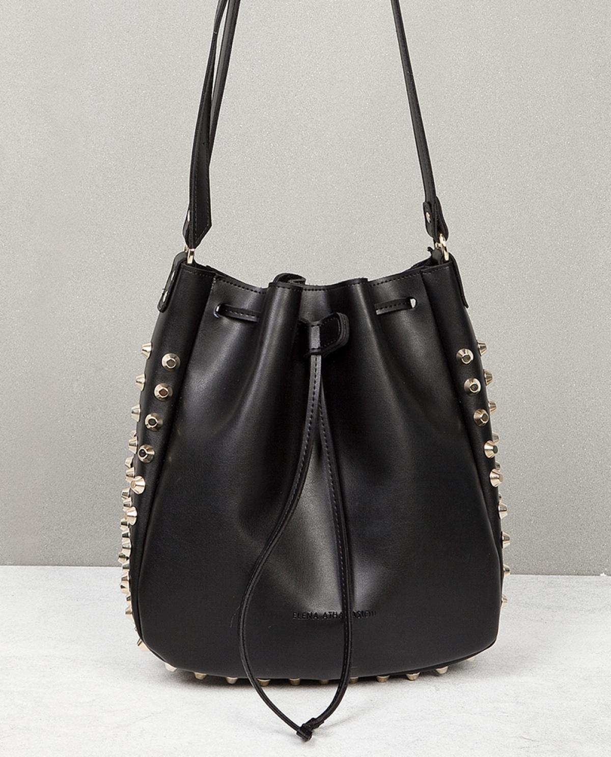 Bling Black Bucket Bag