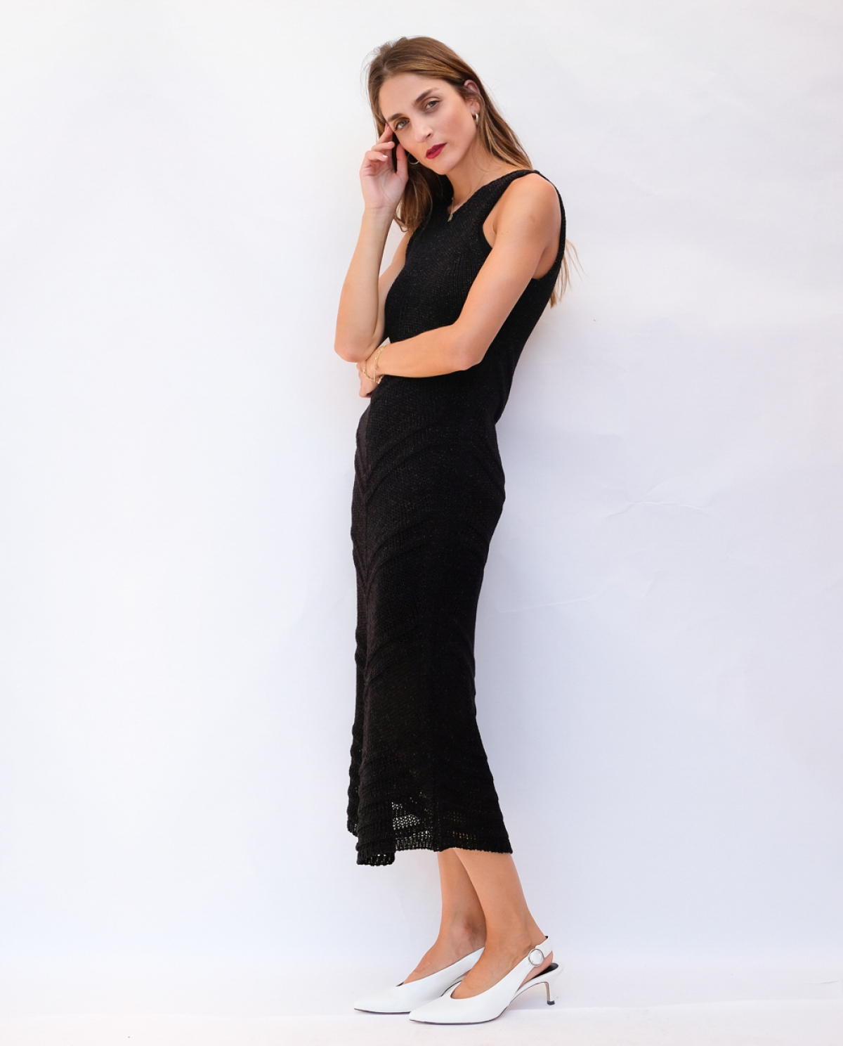 Black Knitted Long Dress