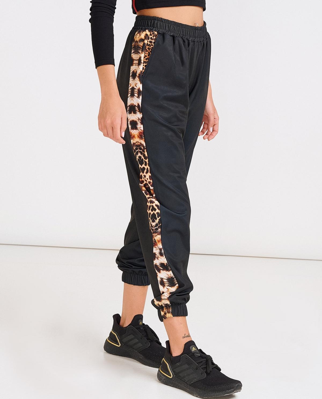 Black Leo Trackpants