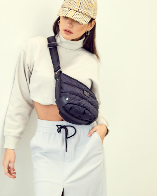 Black Puffer Small Bοdy Bag