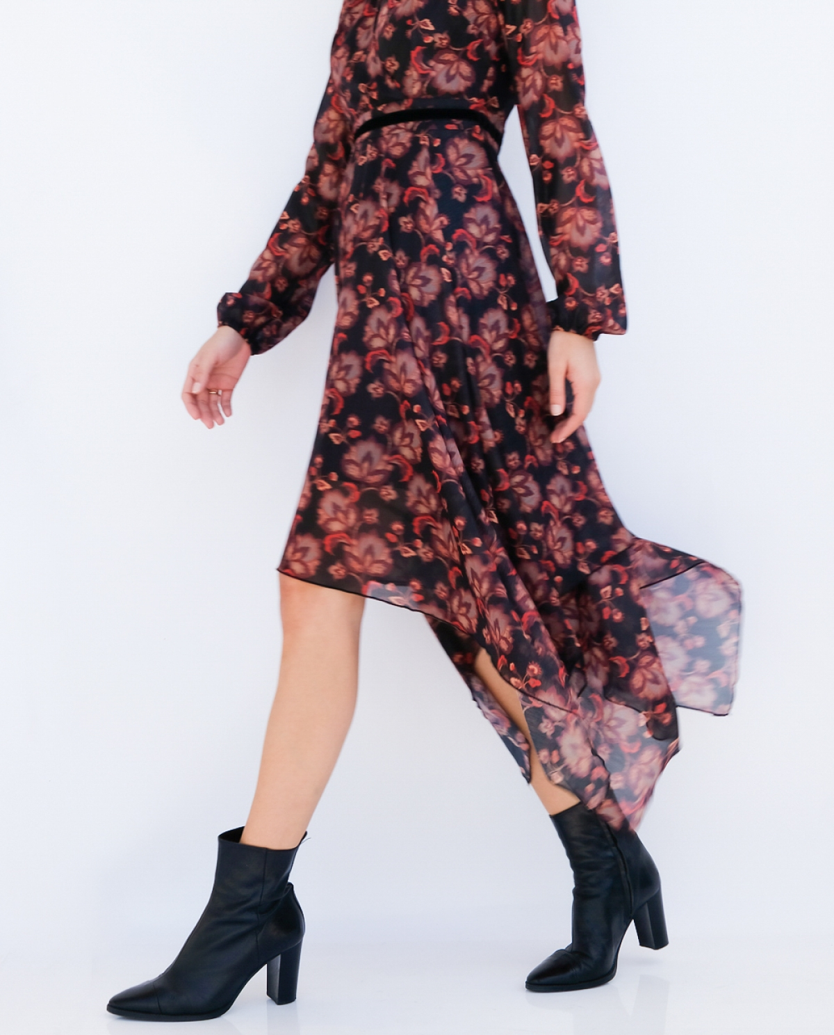 Blossom Printed Asymetric Dress