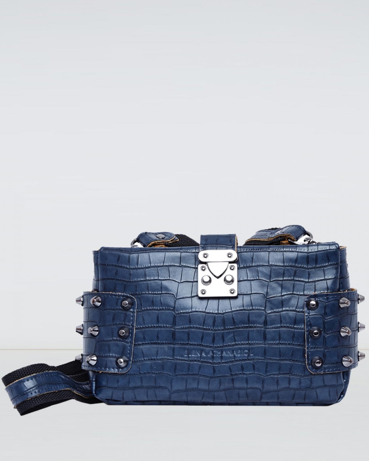 Blue Croco City Lady Clutch