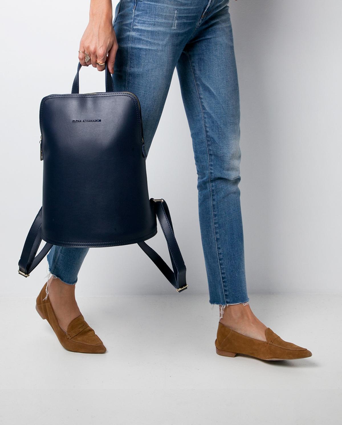 Blue Zip Backpack