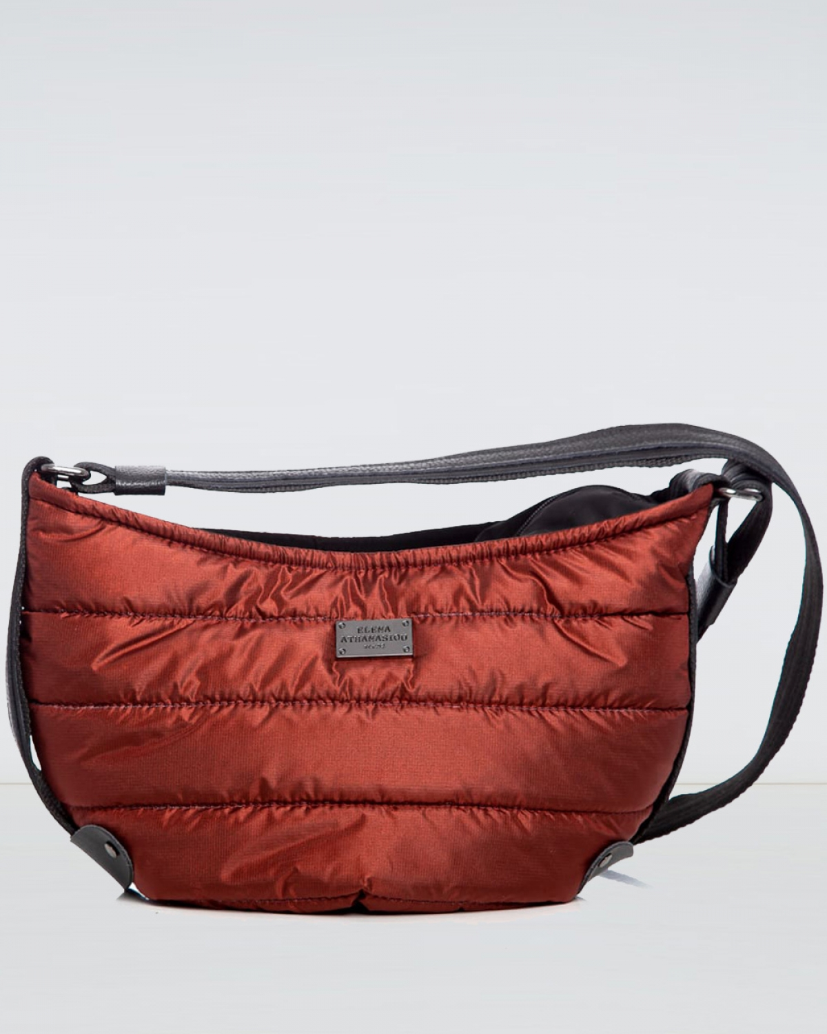 Brick Red Puffer Large Bοdy Bag