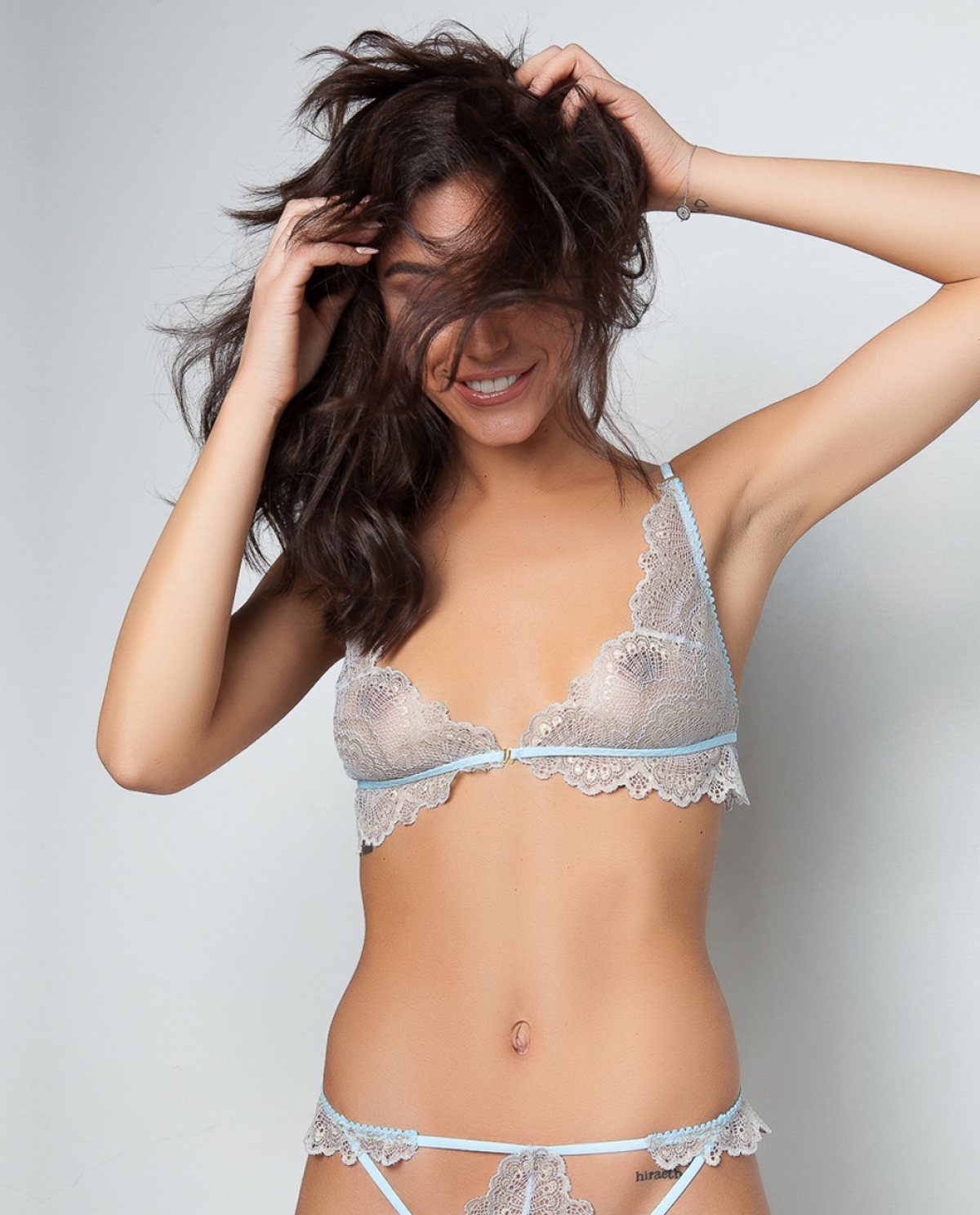 Brilliant Baby Blue Lingerie Lace Set