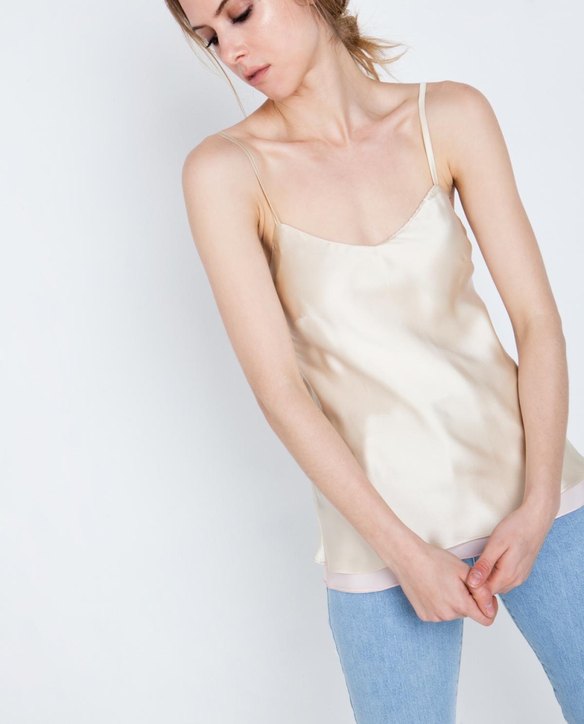 Camellia Silk Top