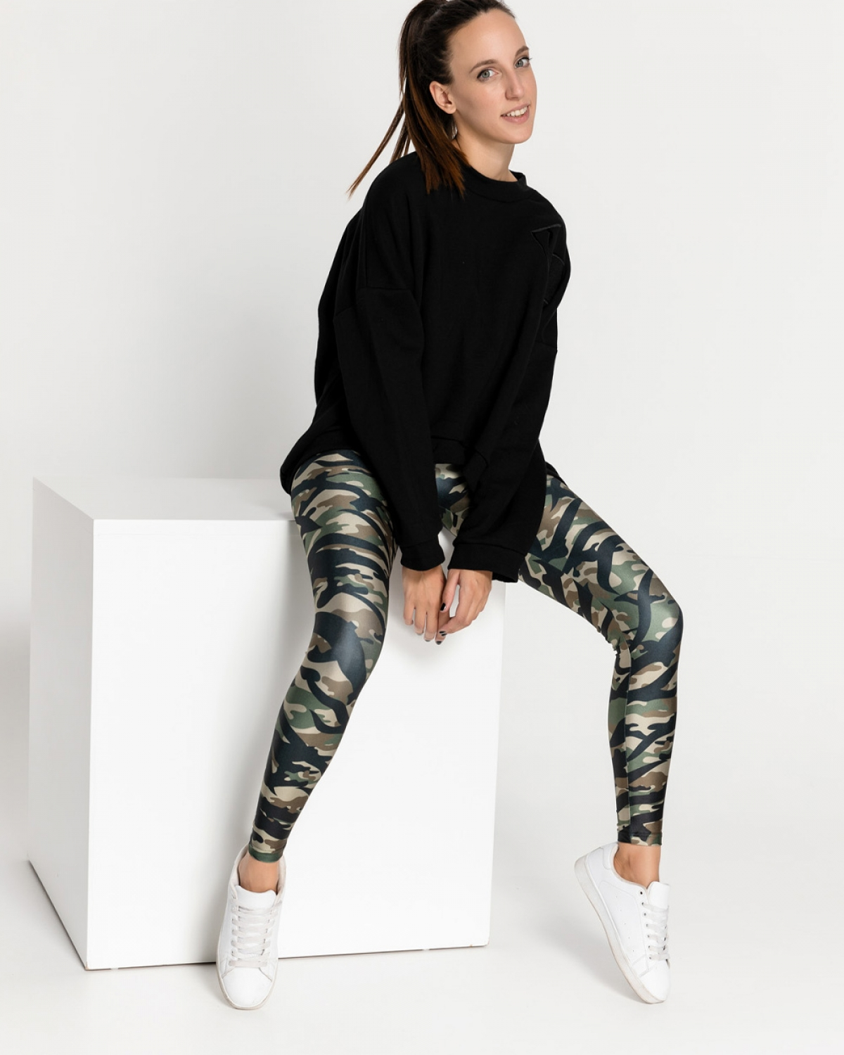 Camo Woodland Tiger Leggings