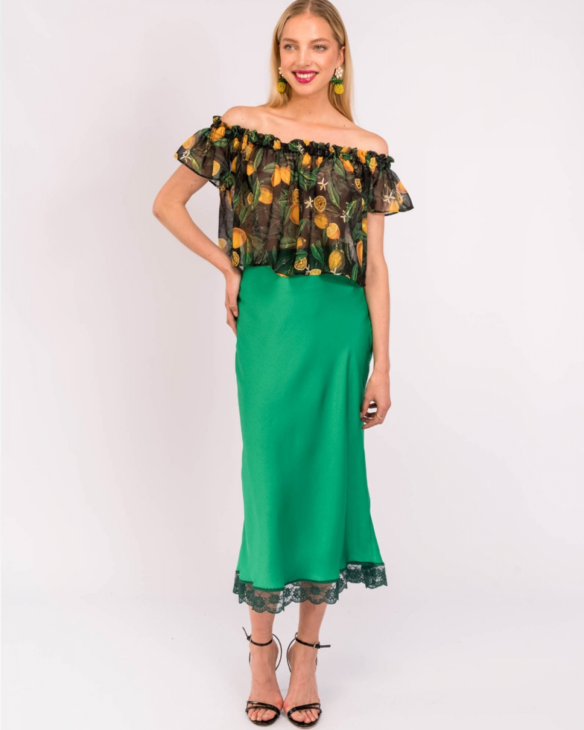 Carlina Green Skirt