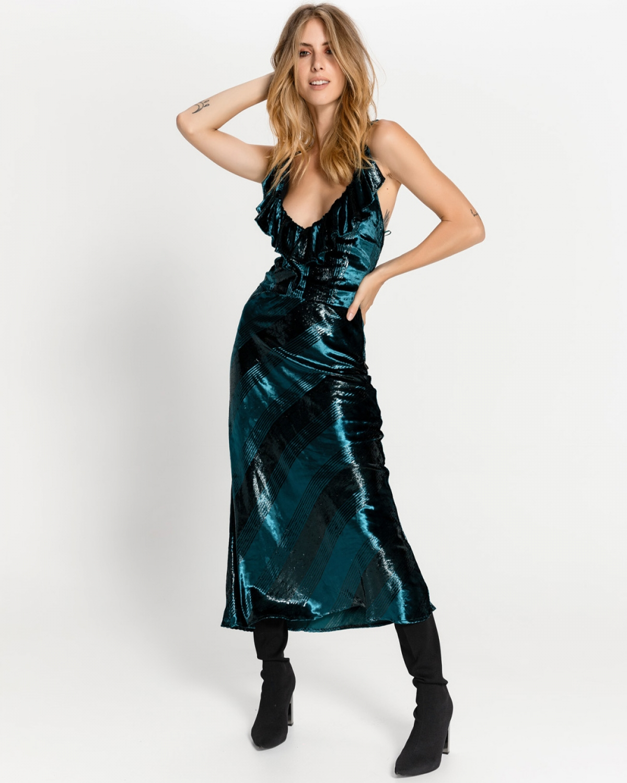 Carnelian Green Midi Dress