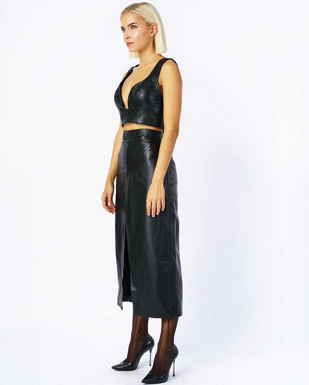 Carys Midi Skirt Black