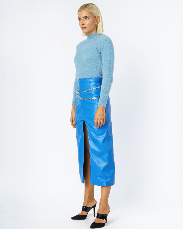 Carys Midi Skirt Blue