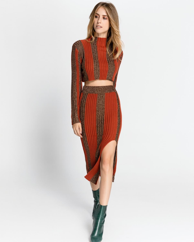 Ceramic Lurex Set (Top and Skirt)