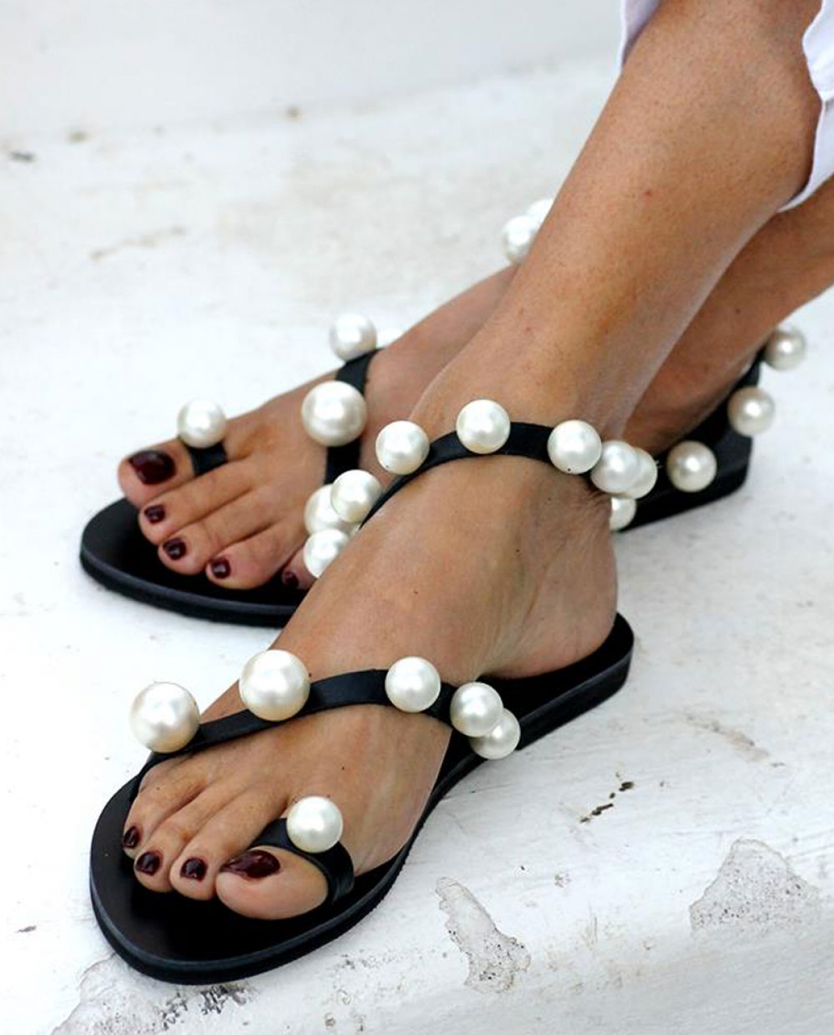 Chantilly Black Sandals