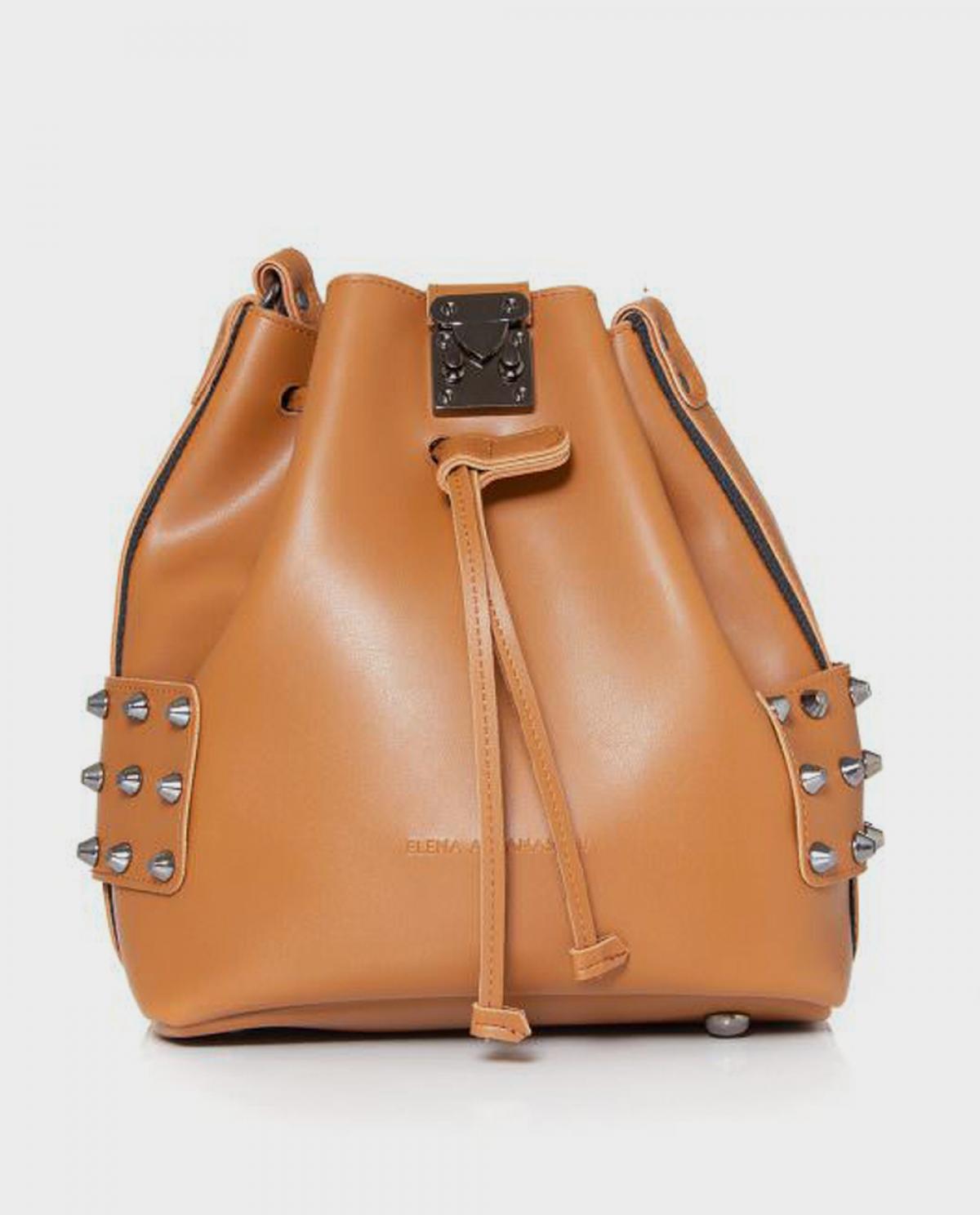 City Lady Camel Shoulder Bag