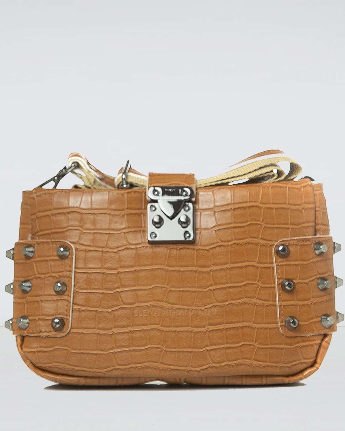 City Lady Clutch Croco Cognac Bag