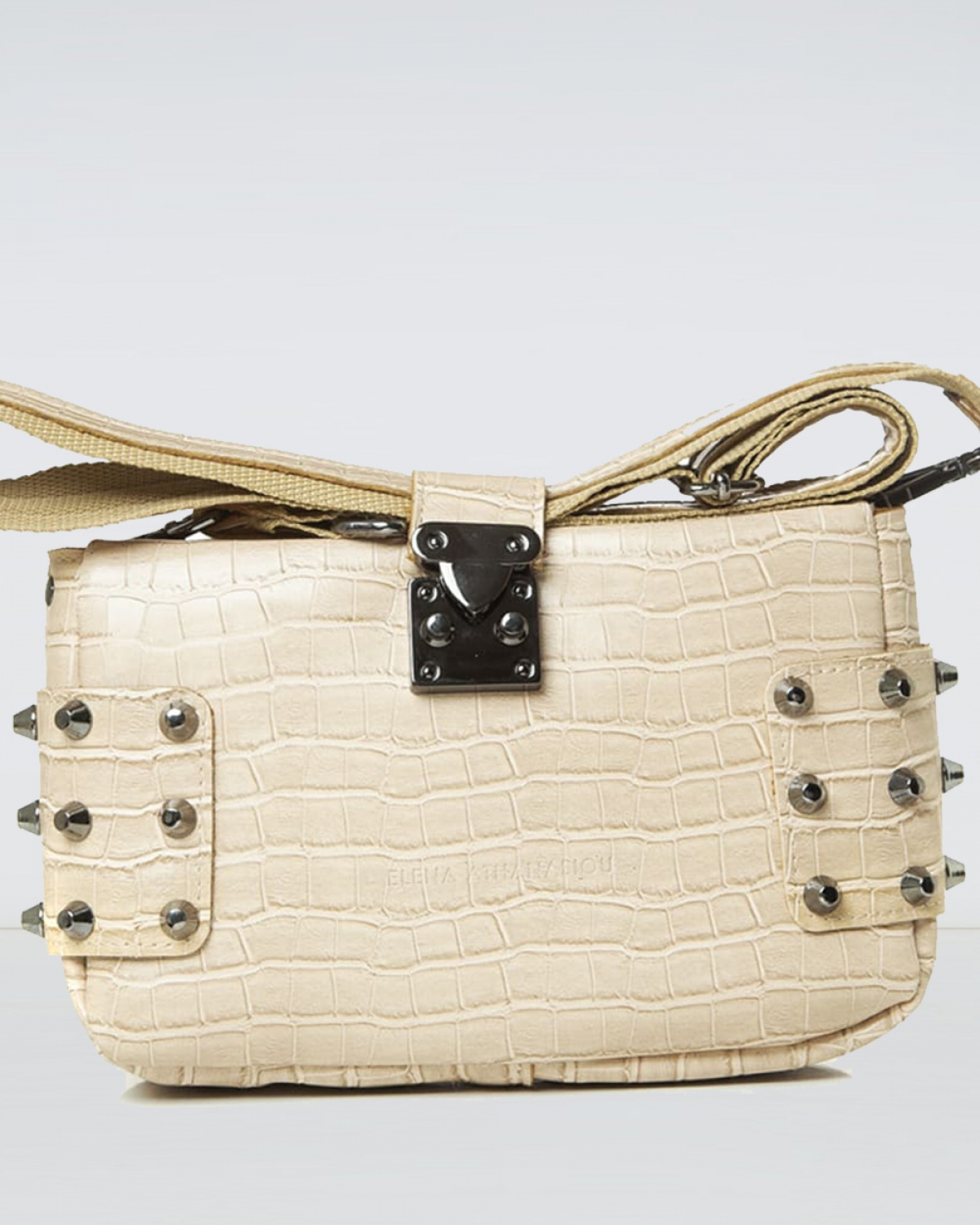 City Lady Clutch Croco Creme Bag