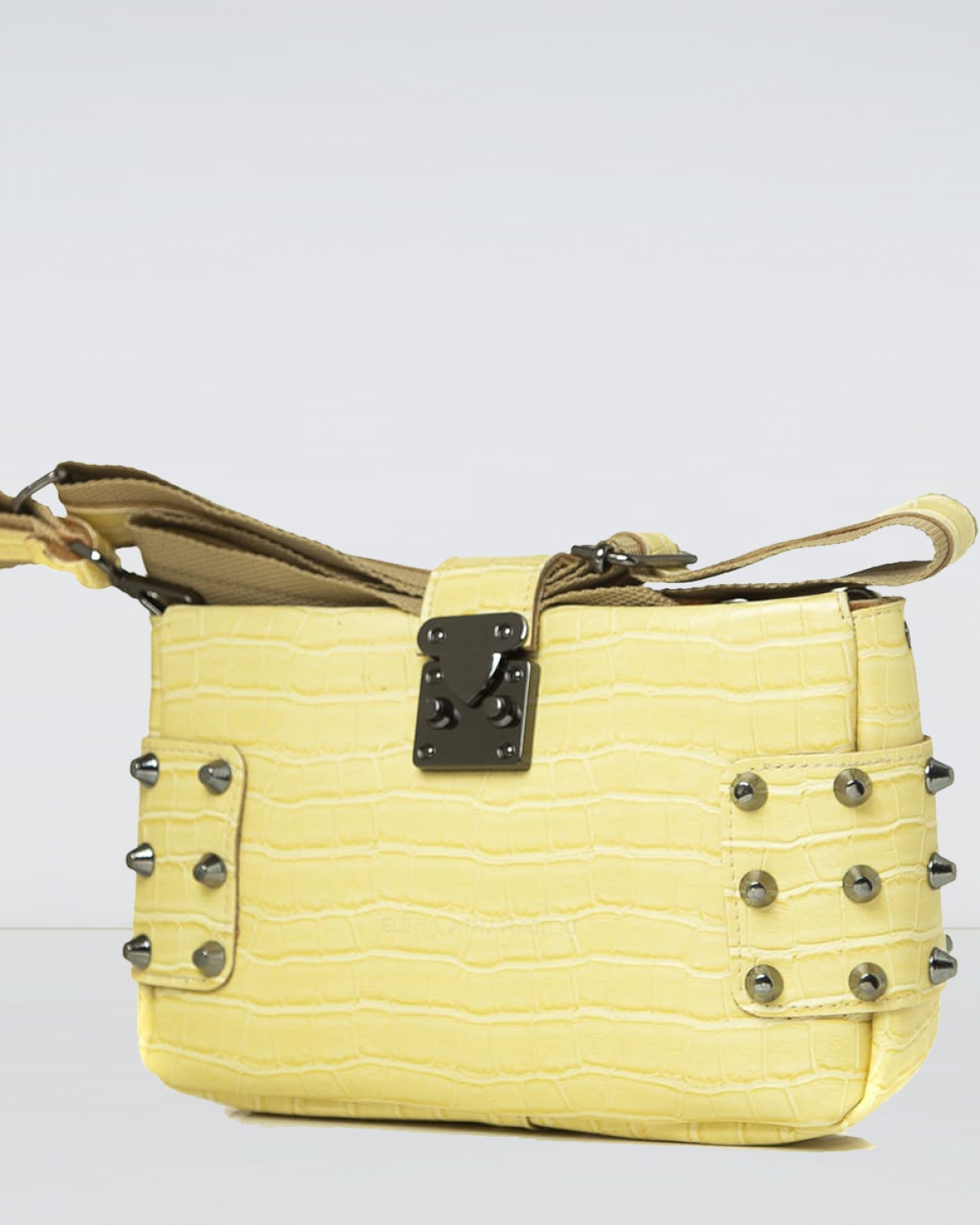 City Lady Clutch Croco Lemon Bag