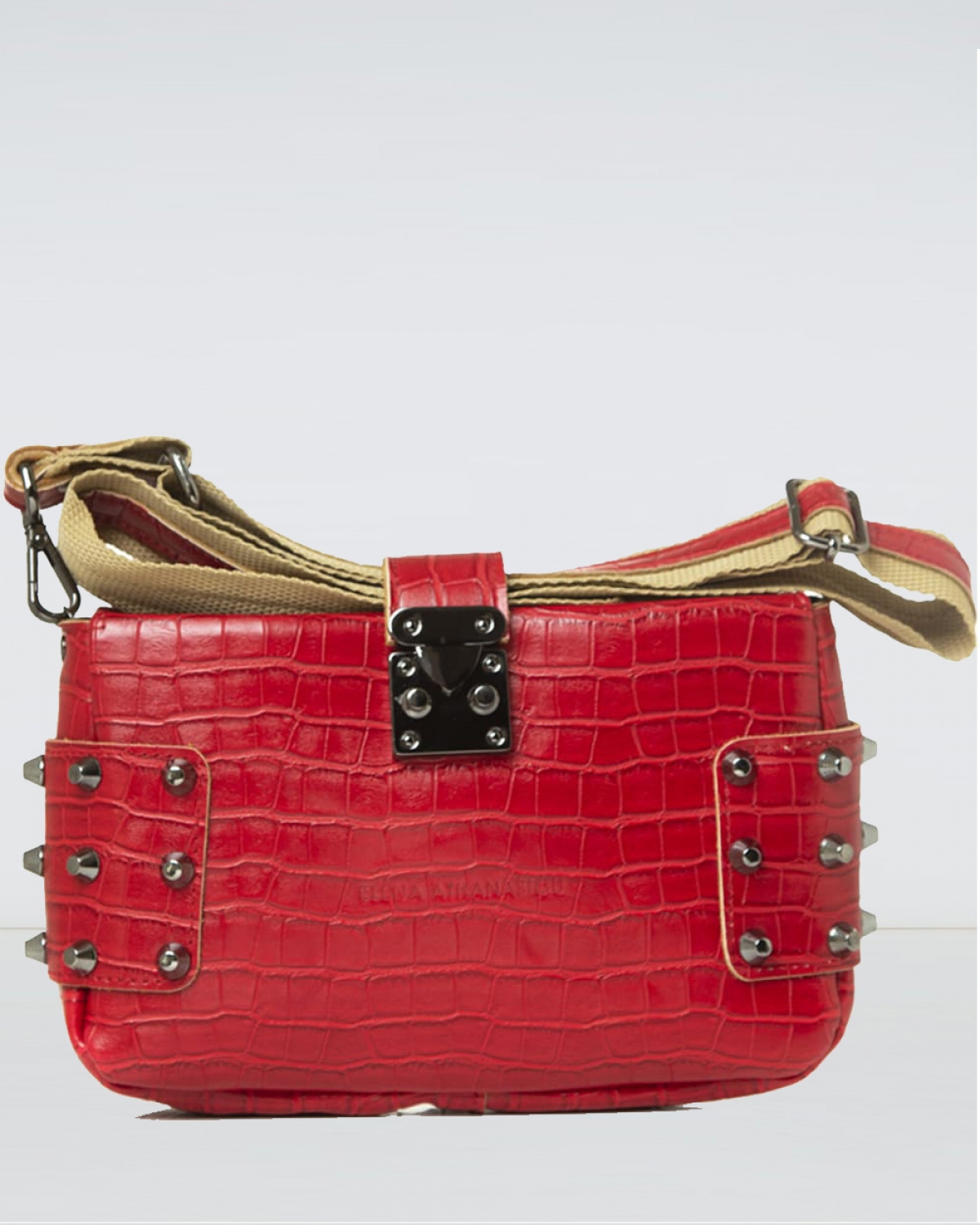 City Lady Clutch Croco Red Bag