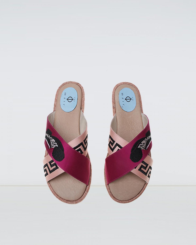 City - Mag Pink Crossover Espadrille Sandal