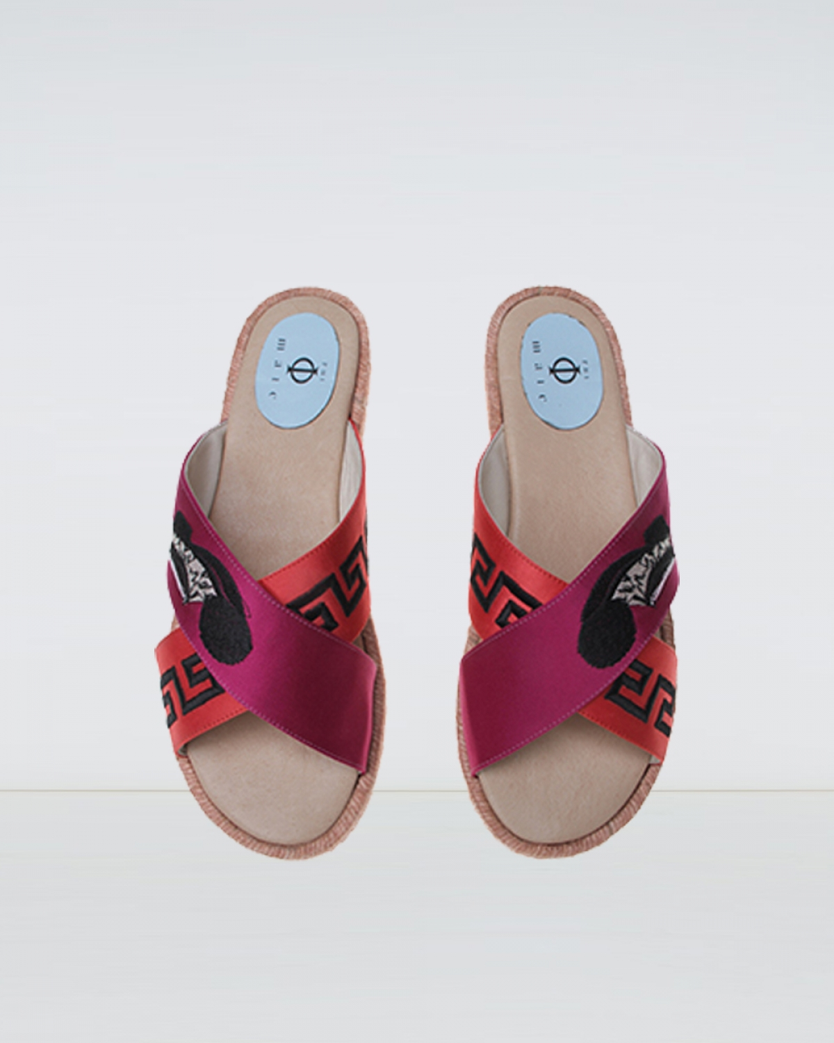 City - Mag Red Crossover Espadrille Sandal